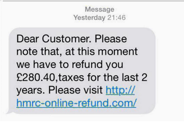 SMS Phishing scam