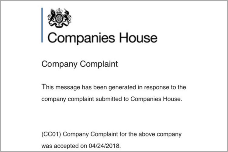 Companies House scam email
