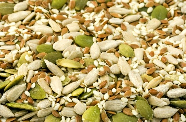 A selection of edible seeds
