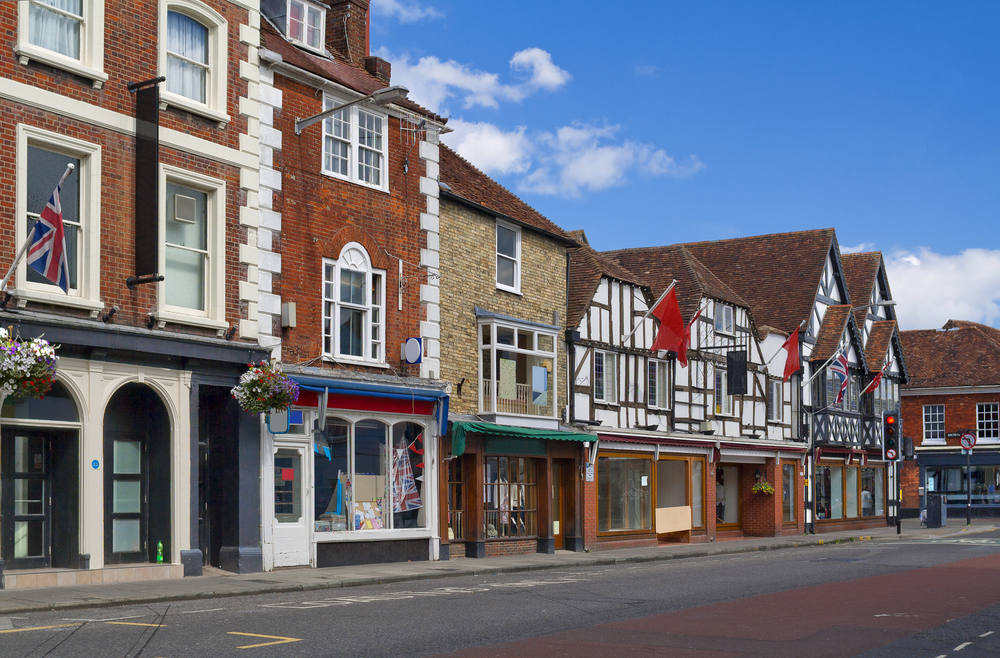 Shops on a UK High Street