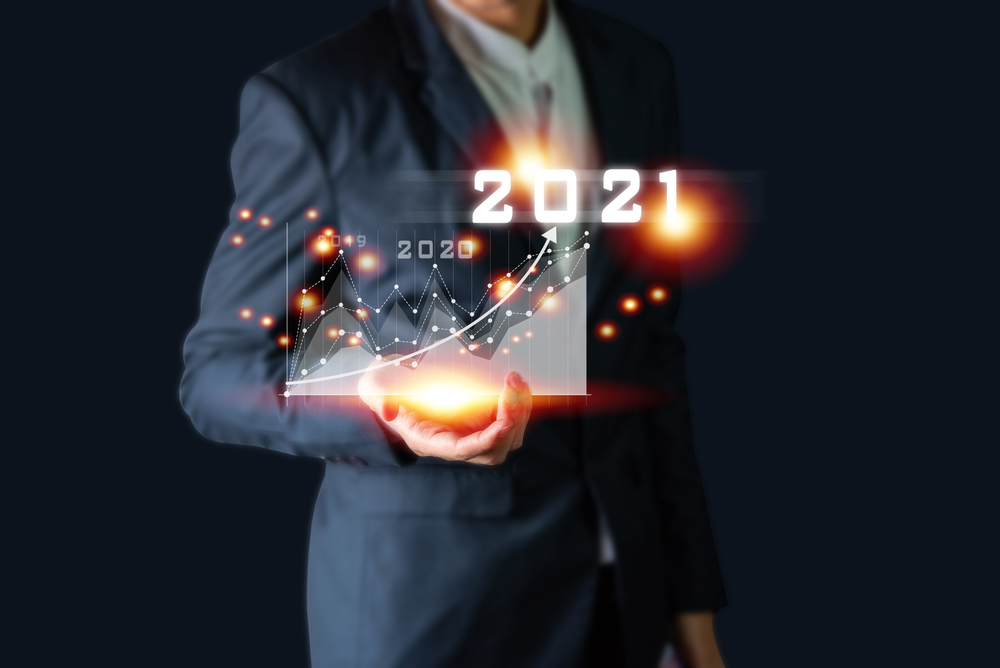 Concept - Financial predictions for 2021