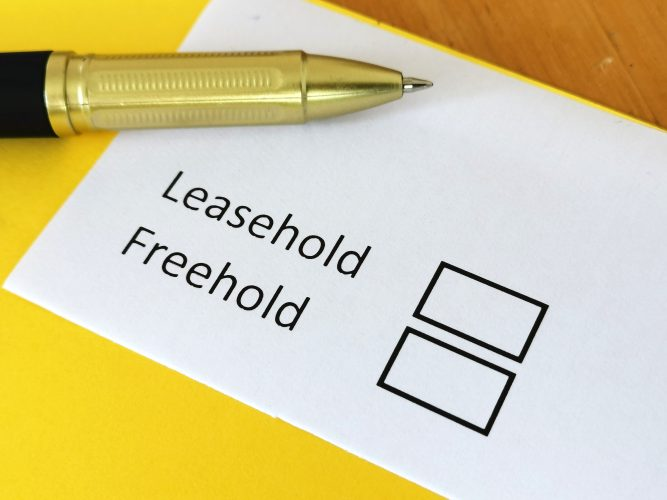 What does leasehold mean when buying a business