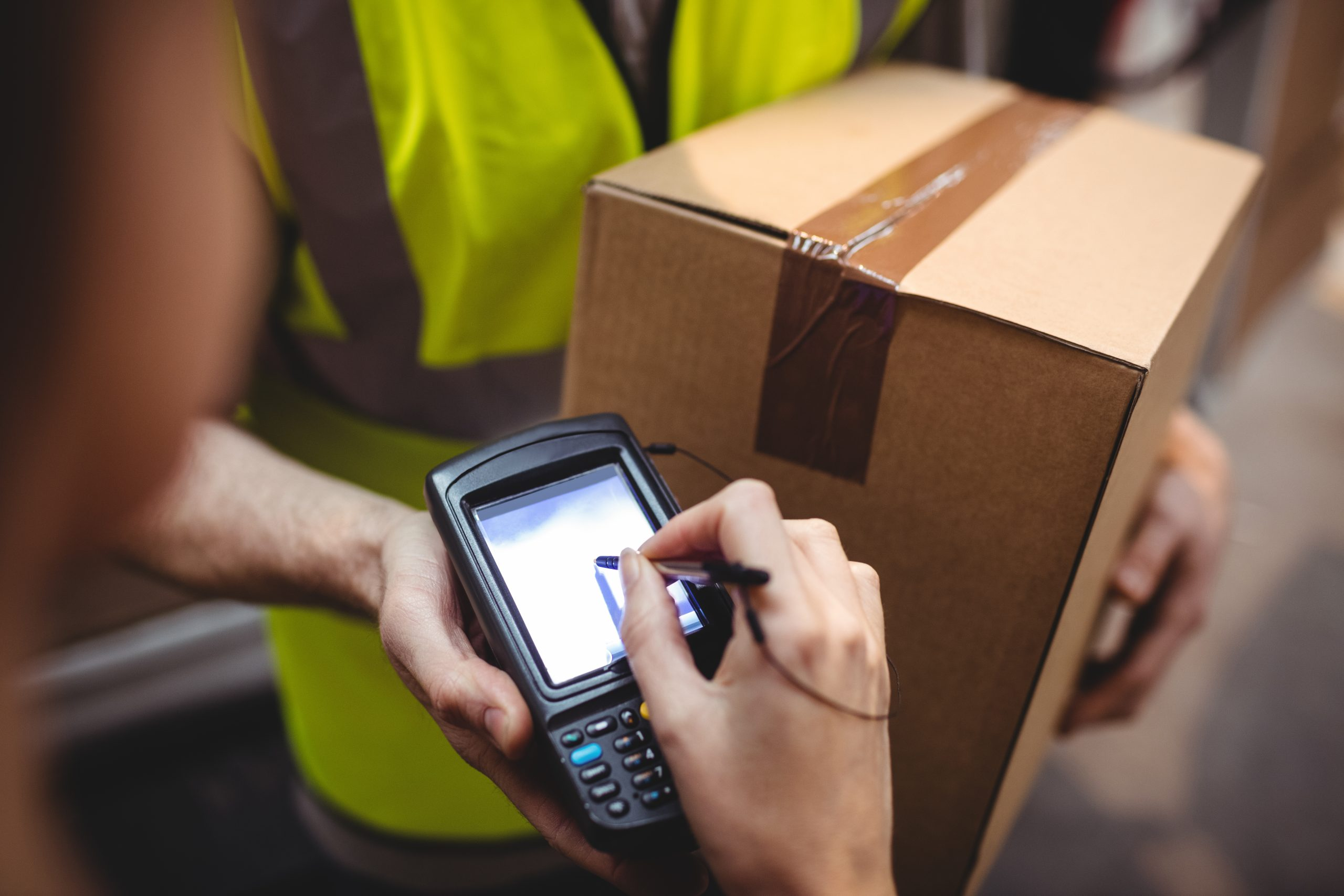 How has information technology transformed the package delivery business?